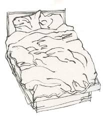 bed drawing. bed and boots drawing t