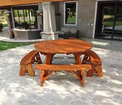 round picnic table options 5 1 2 diameter unattached benches