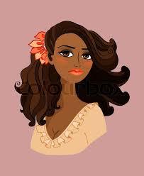 <b>Black</b> woman portrait with <b>red</b> flower ...   Stock vector   Colourbox