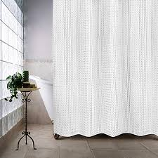 Concept White Fabric Shower Curtains Image Of Escondido Curtain To Inspiration