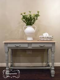 painted console table. Console Table | Vintage Painted Furniture Chalk Paint By Annie Sloan Pomponette Leicester