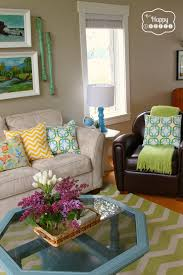 Beautiful Blue And Green Living Room Brown Andeen Ideas Pictures ...