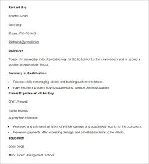 How To Make Resumes On Word Automobile Resume Templates 25 Free Word Pdf Documents Download