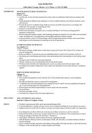 Help Desk Technician Resume Service Desk Technician Resume Samples Velvet Jobs