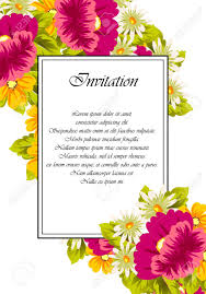 B Day Invitation Cards Frame Of Flowers For Card Designs Greeting Cards Birthday Invitations