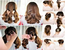 easy hairstyles to do at home step by step for kids