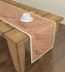 geometric pattern orange polyester