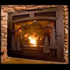 stylish custom fireplace screens with single doors