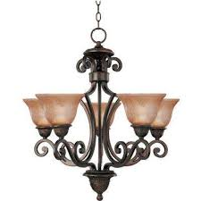 symphony 5 light oil rubbed bronze chandelier