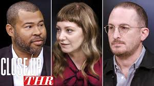 full writers roundtable jordan le darren aronofsky emily v gordon close up with thr