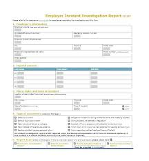 Office Incident Report Template Special Incident Report Template