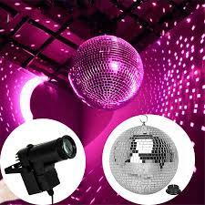 Addmotor Led Lights App Beiaidi Dia20cm 25cm 30cm Glass Rotating Disco Mirror Ball
