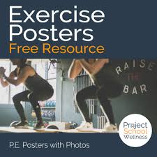 Free Exercise Posters Pe Classroom Poster And Health
