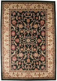 8x10 area rug new persian border fl kashan beige ebony black red traditional