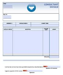 consulting invoice template excel pdf word doc