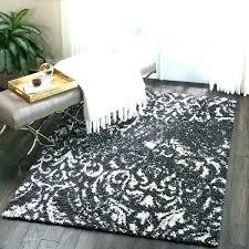 black fuzzy rug white fuzzy carpet white plush rug black and white plush rug black white