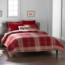 details about cuddl duds red plaid heavyweight flannel full queen comforter set 6pc new in pkg