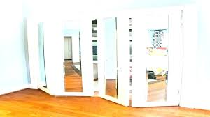 folding closet door repair mirror contemporary bi fold doors