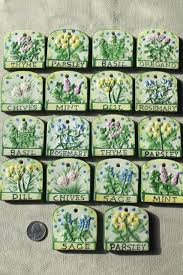 herb garden plant seed markers ceramic s for herbs signs for plants