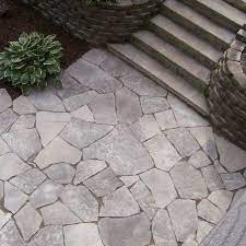 flagstone patio from above archadeck