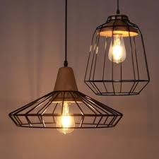 industrial cage lighting. Nordic American Country Lighting Vintage Wood Pendant Light Loft Edison Fixture Industrial Cage Lamp Lampe Deco-in Lights From