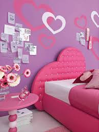 Pink Bedroom Paint Cheerful Shared Gorgeous Teenage Girl Bedroom Decoration Using