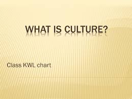 What Is Culture? Class Kwl Chart. - Ppt Video Online Download