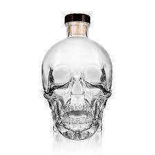 crystal head empty vodka 750ml liquor bottle clear glass skull