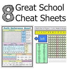 cheet sheets 8 great school cheat sheets lil moo creations