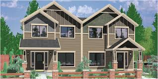 craftsman style house plans for narrow lots modern looks duplex house plans house plans with rear garages