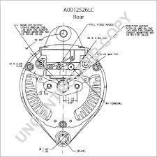 a0012526lc alternator product details prestolite leece neville a0012526lc rear dim drawing