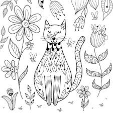 Dogs don't have many enemies, but cats are found to be their fiercest fiends. Free Cat Coloring Pages Purr Fect Printable Coloring Pages Of Cats For Cat Lovers Of All Ages Printables 30seconds Mom