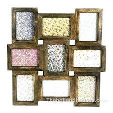rustic collage frame brown wooden collage frames frame wall picture large rustic multi wood rustic white