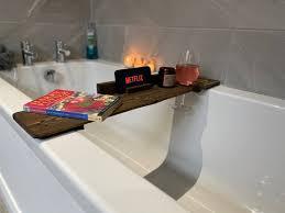 rustic bath tray