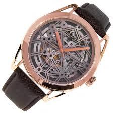 kenneth cole mens rose gold skeleton analog watch kc8082