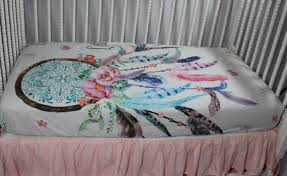 Dream Catcher Crib Bedding Dream catcher Baby Bedding Dream catcher Fitted Crib Sheet 1
