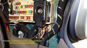 trying to locate ground point nearest the cabin fuse box jaguar primary fuse box ground jpg