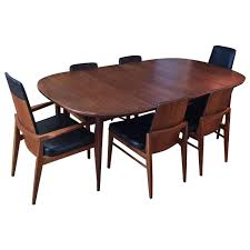 MidCentury Modern Walnut Dining Set At Stdibs - Walnut dining room furniture