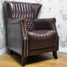 Leather Wingback Chair For Sale Chair Buy Vintage Leather Armchair Tweed Studded Chesterfield Wing