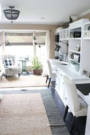 stylish home office space. One Room Challenge {ORC} Week #6: Reveal Of A Functional \u0026 Stylish Home Office- Ideas | Space Crafts, Office Makeover And Farmhouse Style C