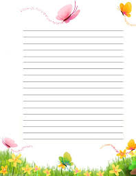 Lined Stationery Paper Gorgeous Butterflies Free Printable Stationery For Kids Primary Lined