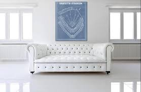 Senators Stadium Seating Chart Vintage Print Of Griffith Stadium Seating Chart Washington Senators Baseball Blueprint On Photo Paper Matte Paper Or Stretched Canvas