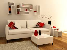 White And Red Living Room Deluxe Idea Modern Interior Living Room Minimalist White Red
