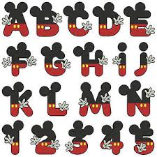 Machine Embroidery Patterns Gorgeous Mickey Alphabet Numbers Machine Embroidery Patterns 48 Designs