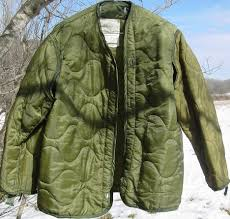 Military Coat Quilted Liner Cold Weather Size Small for Field ... & Military Coat Quilted Liner Cold Weather Size Small for Field Jacket SOLD |  Ruby Lane Adamdwight.com