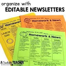 Letter Templates For Teachers Editable Printable Newsletters For The Classroom Homework