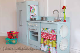 Childrens Wooden Kitchen Furniture Diy Blue Play Kitchen The Crafting Chicks