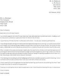 Primary Teacher Cover Letter Example Icover Org Uk