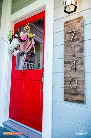 rustic wood house number signs
