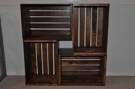 wooden crate bookcase diycraftcorner
